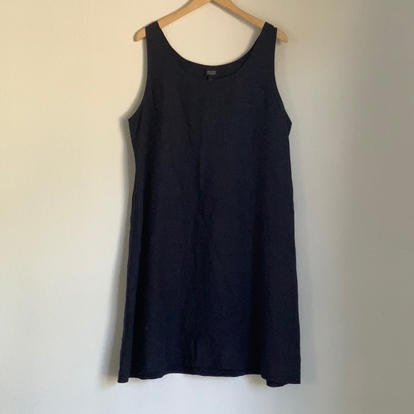 Eileen Fisher Dresses & Skirts - EILEEN FISHER any blue linen smock dress